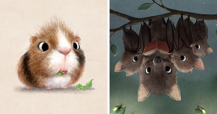 fe1ab0ca57 Incredibly Cute Animal Illustrations By Sydney Hanson Will Make You Smile