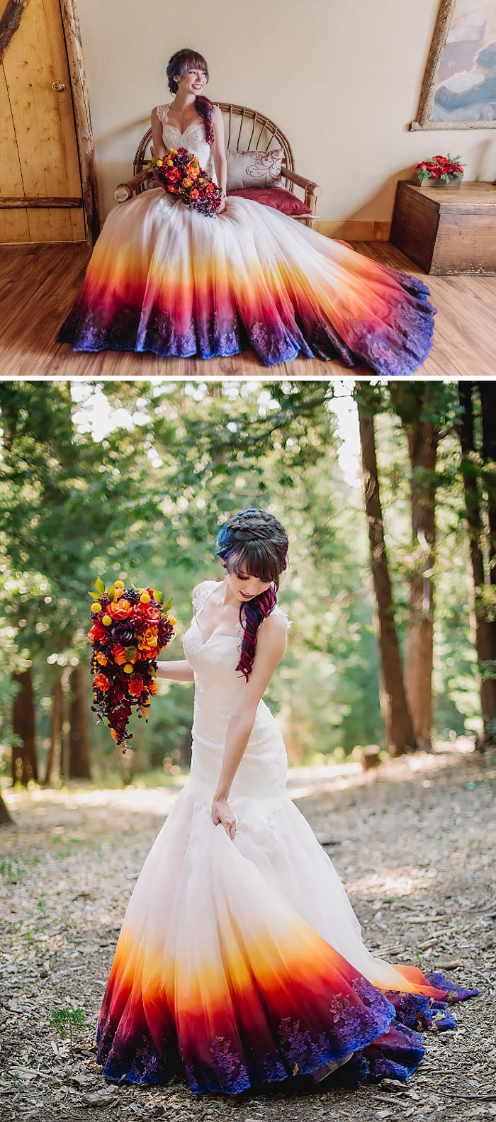 Dip Dye Wedding Dress