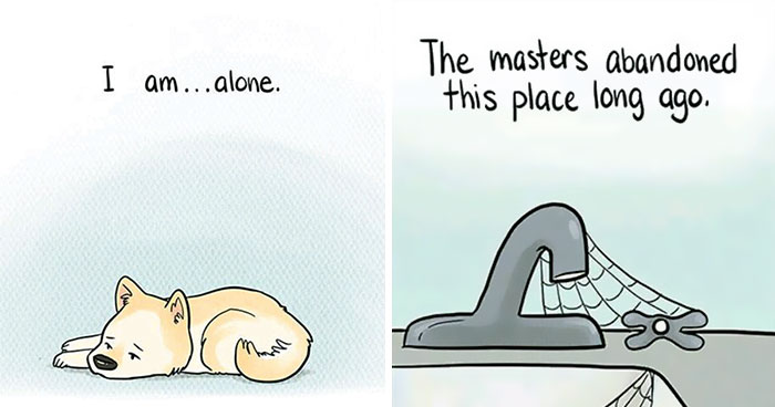 This Comic Reveals How A Dog Feels Home Alone