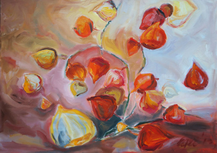 I Create Orange Mood Oil Paintings