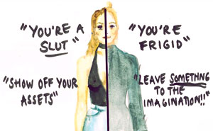 Artist Illustrates The Ridiculous Expectations Women Face Every Day