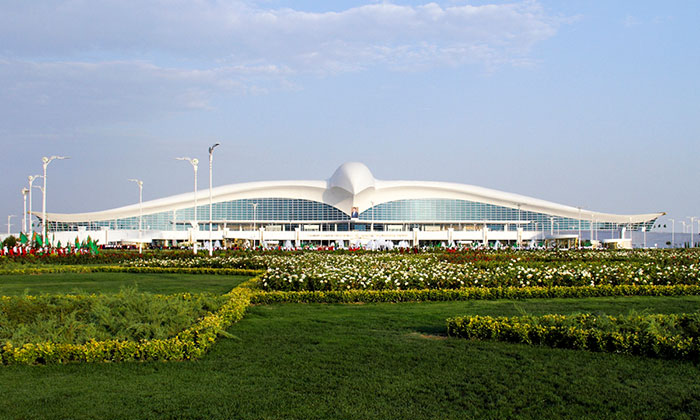 Turkmenistan Opens $2.3 Billion Falcon-Shaped Airport