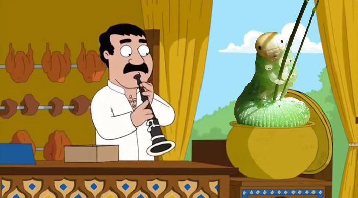 Family Guy's Dancing Caterpillar