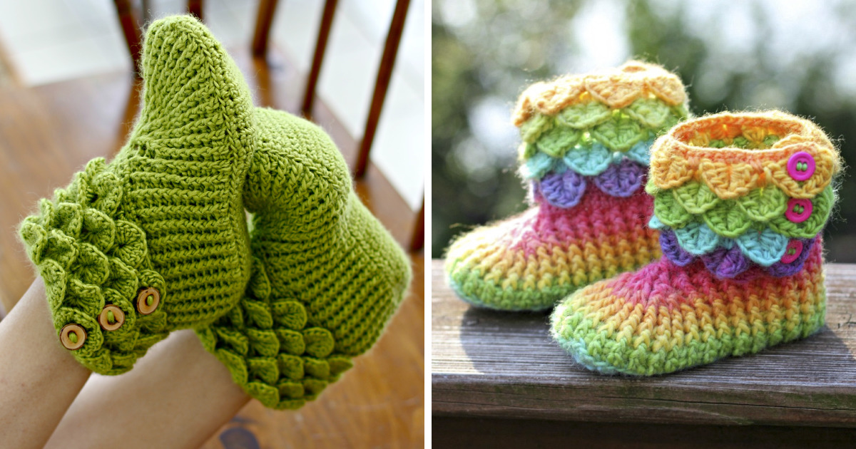 Dragon Slippers With Crochet Scales To Keep Your Toes Warm Because Winter Is Coming Bored Panda
