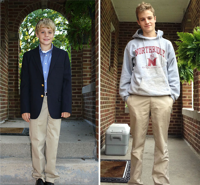 Peter's First Day Of High School And His Last Day Of High School