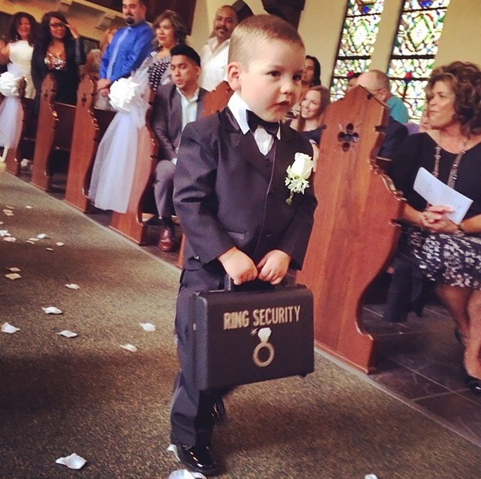 Ring Bearer With Security Briefcase