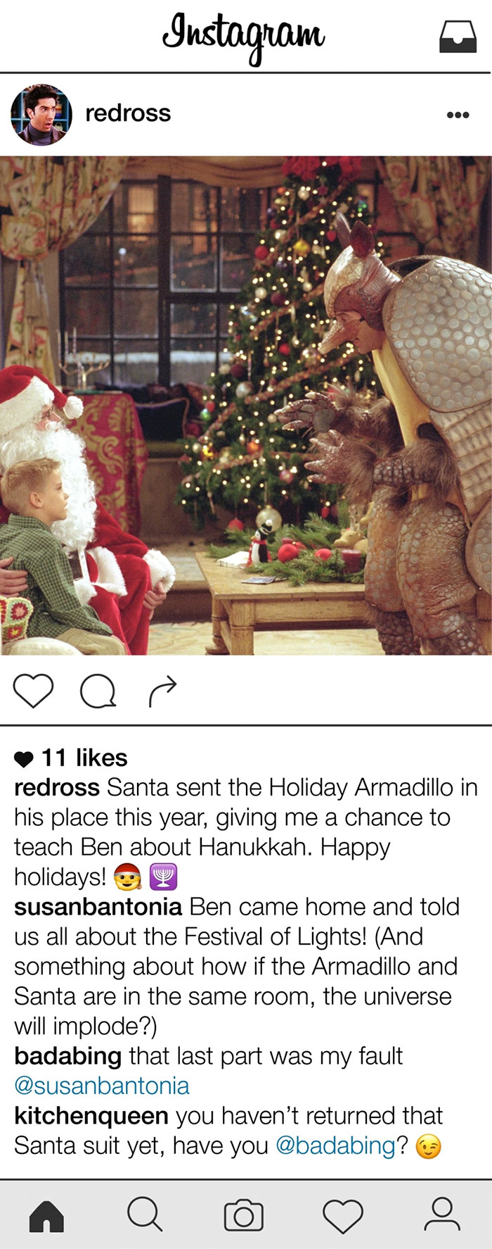 If Ross Geller Had Instagram