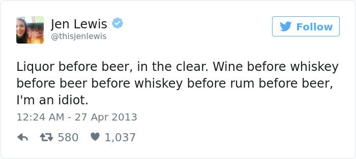Alcohol Tweet