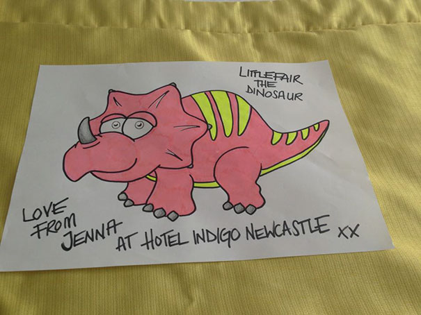 I Put 'I'd Like A Drawing Of A Dinosaur Please' In The Special Requests Box