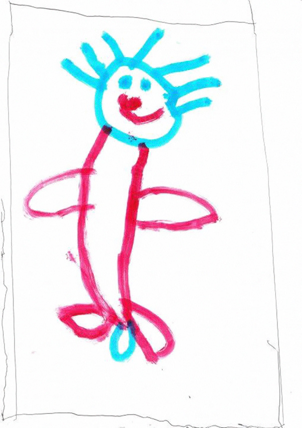 Portrait Miss 3 Did Of Her Dad
