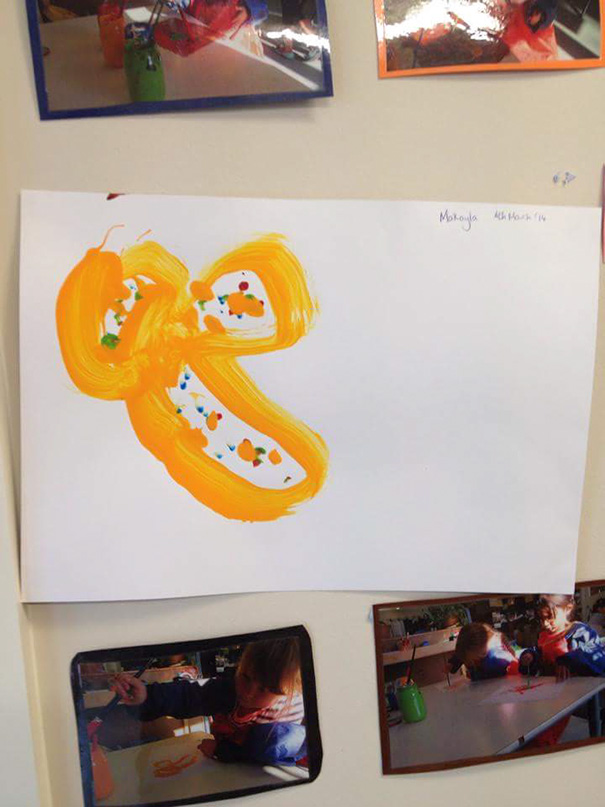 My Daughters Kinder Flower - The Kindy Teacher Kindly Sent Me A Picture Via Sms