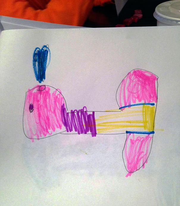 """My Friends Kid Drew A """"Whale"""""""