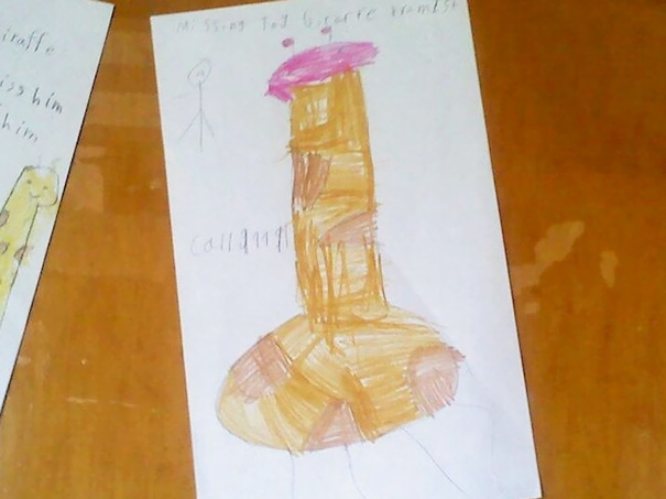 Drawing Of A Giraffe. This Kid May Have Been Misinformed