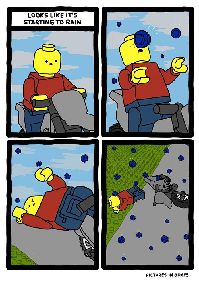 Lego Rain