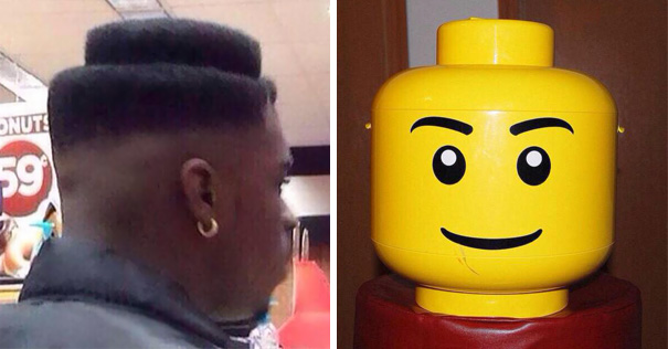 He Went To The Barber And Asked For That LEGO Skin Fade