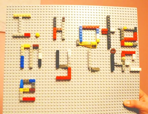 My Son Was Grounded And Was So Angry He Wrote This Hateful Note...With Lego