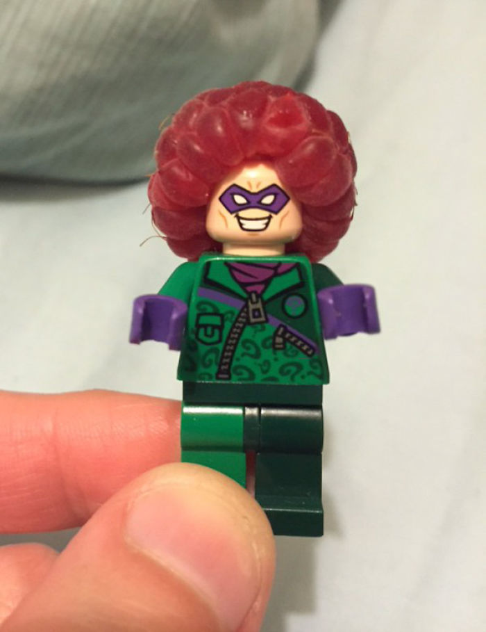 Today I Learned That Raspberries Make Great Lego Afros