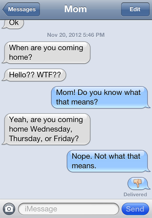 The Funniest Texts From Mom Ever - 25 Pics  |Dumb Mom Texts
