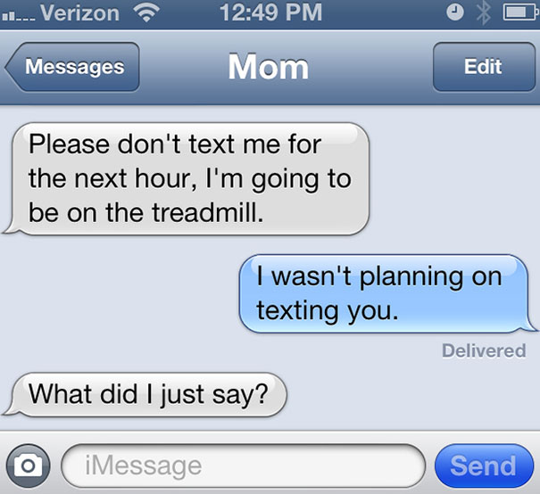 Funny Mom Text