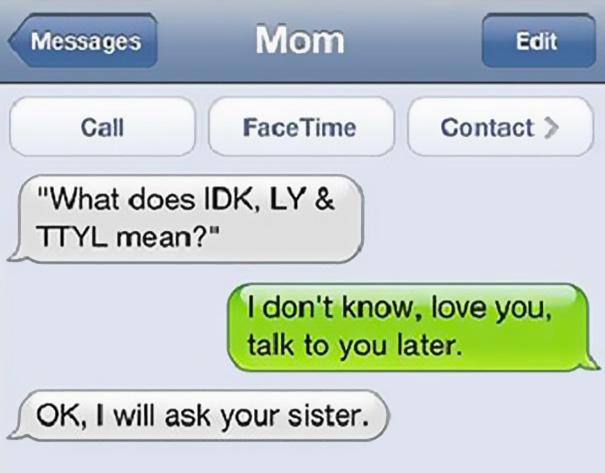 Funny Mom Text