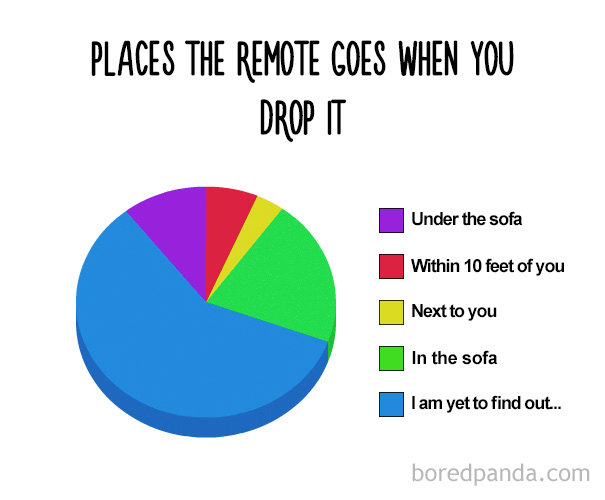 Places The Remote Goes When Youu Drop It