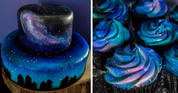 how to make a galaxy cake