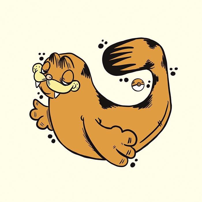Garfield Pokemon Olursa