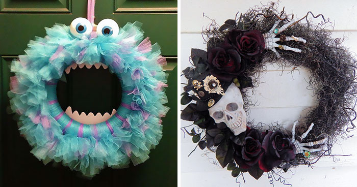 Halloween Wreaths Are A Thing Now, And They're Creepily Awesome