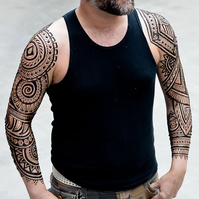 Male Henna Tattoos: 'Menna' Trend Sees Men Wearing Intricate Henna Tattoos