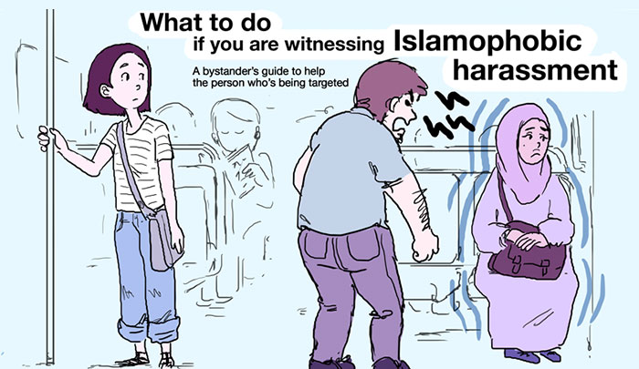 Artist Made A Guide That Shows What To Do When You See Islamophobia
