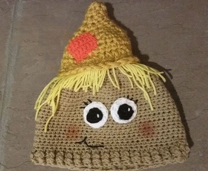 I Crocheted A Scarecrow Hat To Help The Kids Who Are Battling Childhood Cancers