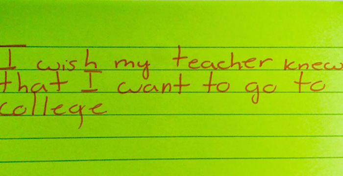 I Wish My Teacher Knew