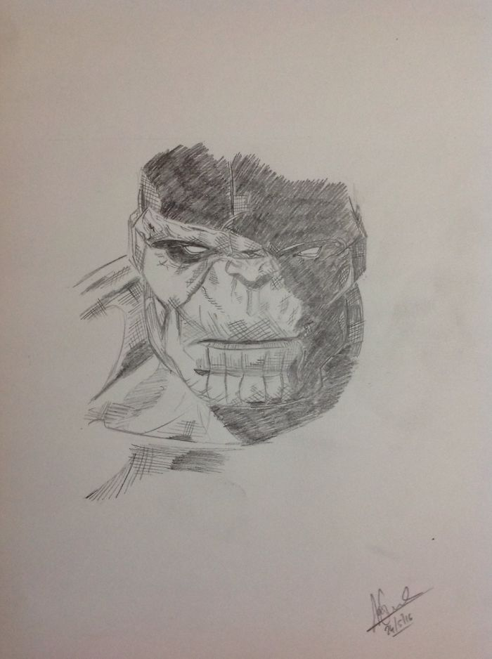 I Spent My Free Time By Drawing Super Heroes