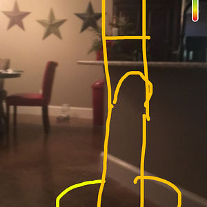 My 4 Year Old Was Playing On Snap Chat. He Says It's A Drawing Of A Man. Yep.