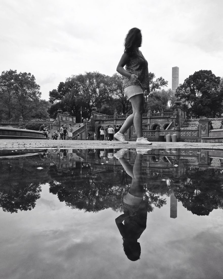 The Parallel Worlds Of Puddles In New York City