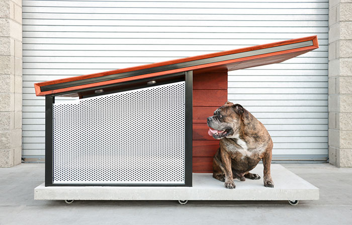 Dog House Reinvented To Fit Modern Home's Aesthetic
