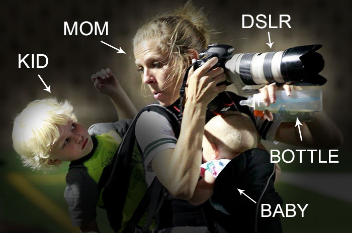 This Viral Photo Of Multitasking Mom Sums Up Motherhood In One Pic