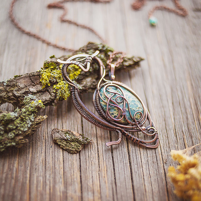 Large Ancient Forests Inspired Me To Create This Wire Wrapped Jewelry