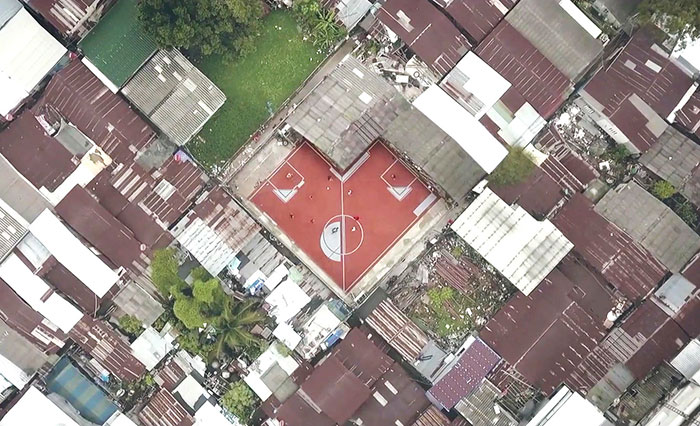 World's First Non-Rectangular Football Field That We Created In Thailand