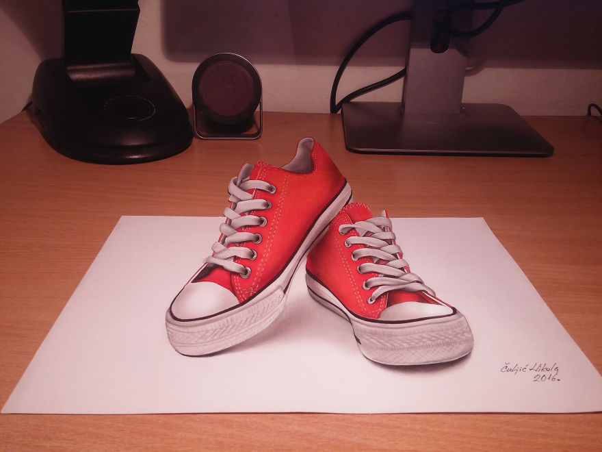 3d Red Converse Shoes