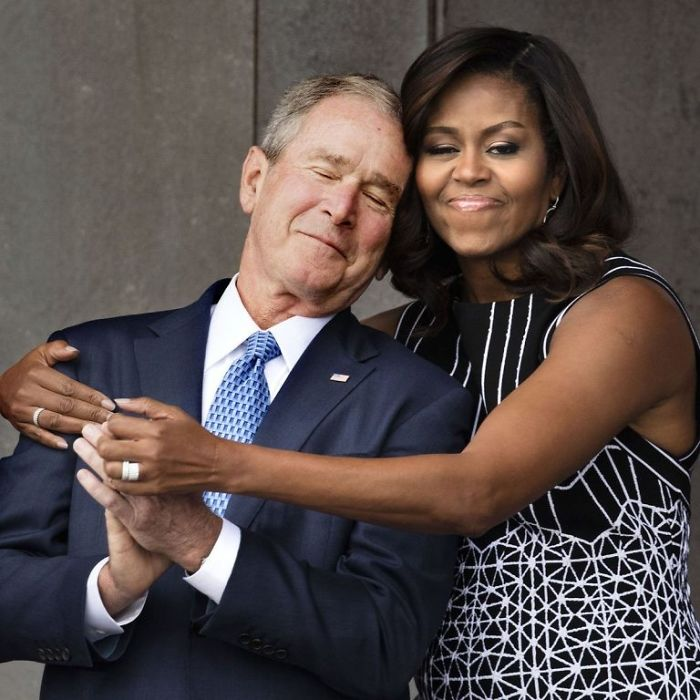 Photoshop-Day War: The Arms Of Michelle Obama And George W. Bush