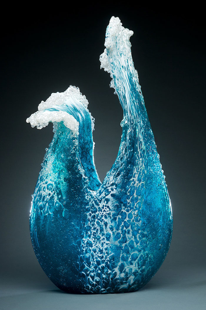 Ocean Wave Vases And Sculptures Capture The Majestic Power Of The Sea