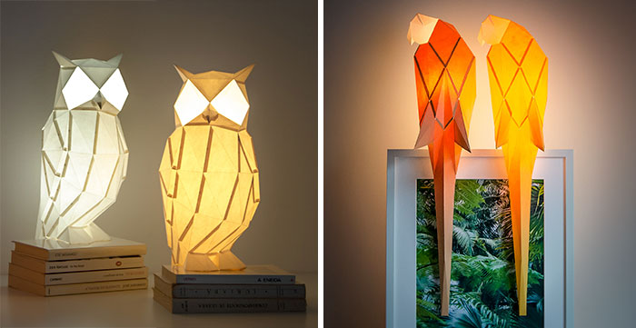Origami-Inspired Animal Lamps That We Create From Paper