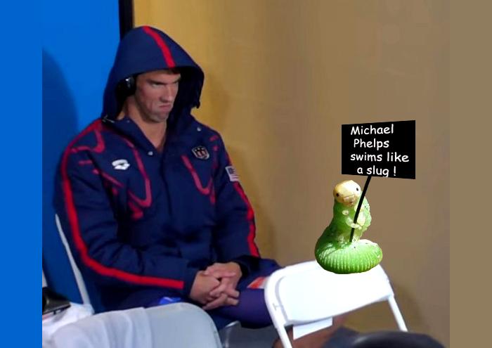Buggin' Michael Phelps