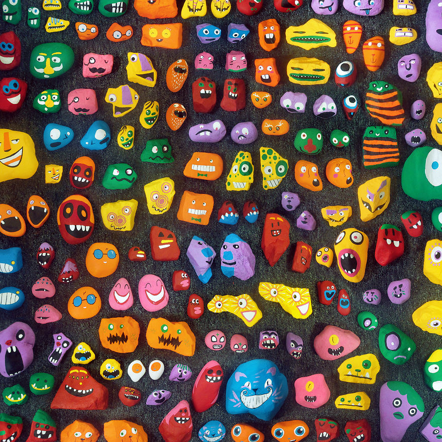 my kids and i spent a year painting over 1 000 rocks and