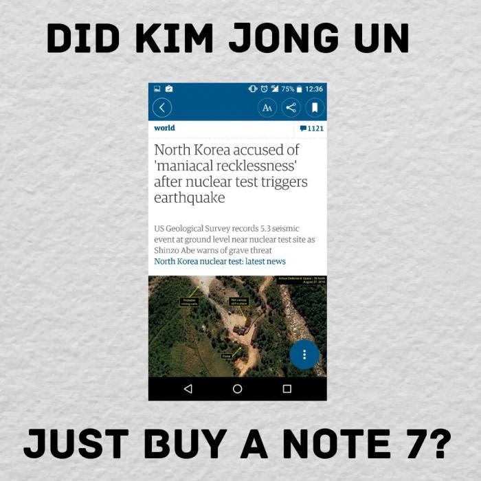 Kim Jong Un And Samsung Galaxy Note 7