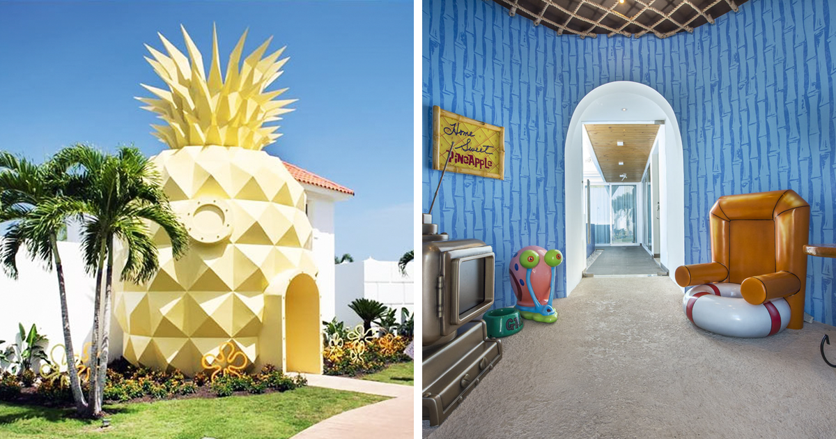 Spongebob Fans Can Now Sleep In A Real Life Pineapple