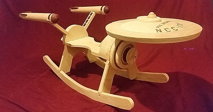 Wooden Star Trek USS Enterprise Rocker For Your Little Sci-Fi Fan
