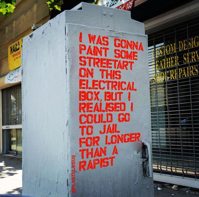 Street Artist Responds To Brock Turner's Release