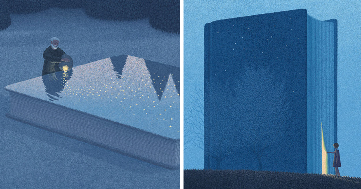 Surreal Illustrations For Book Lovers By Korean Artist Jungho Lee